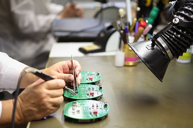 Through hole assembly hand solder levison enterprises