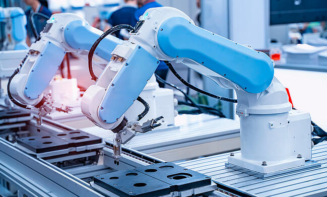Automatic robot manufacturing on medical device PCB.